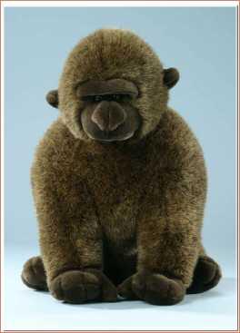singender gorilla stofftier